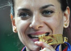 Reaction of Elena Isinbaeva,  two-time Olympic gold medalist, a three-time World Champion and current world record holder